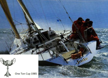 1985 Jade II wins One Ton world championships member of the British Admirals Cup Team